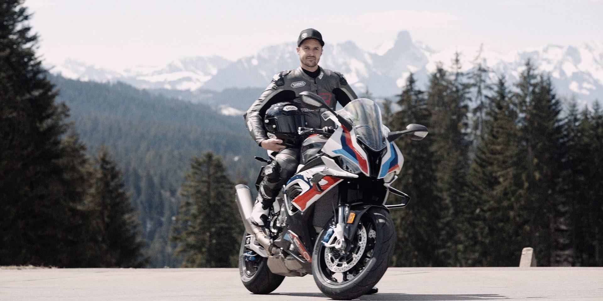 Tom Lüthi unterwegs mit der BMW M 1000
